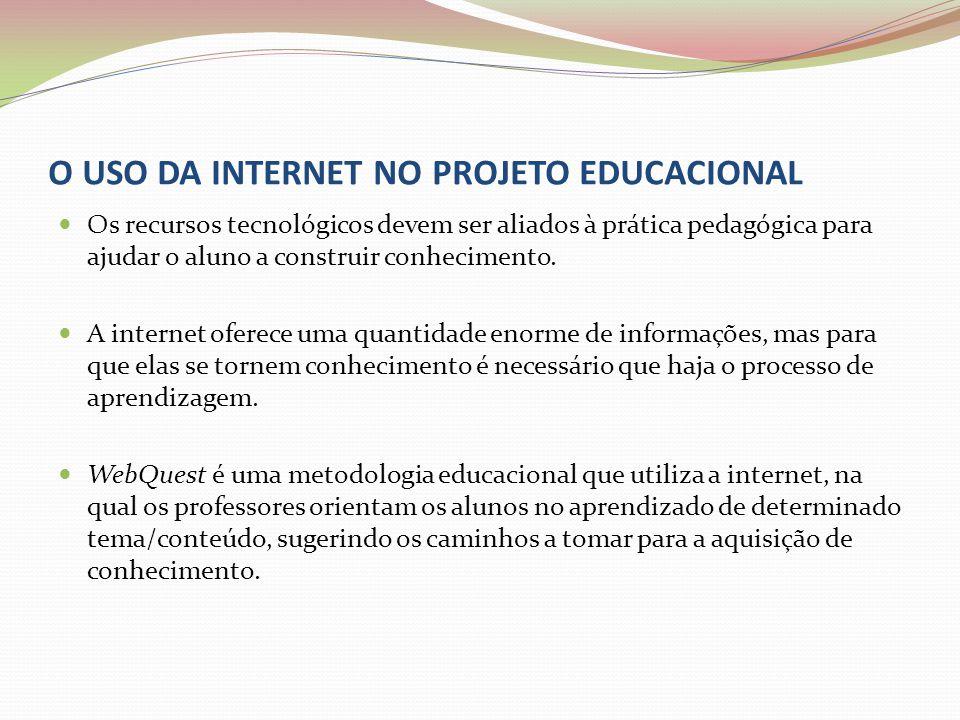 O USO DA INTERNET NO PROJETO EDUCACIONAL