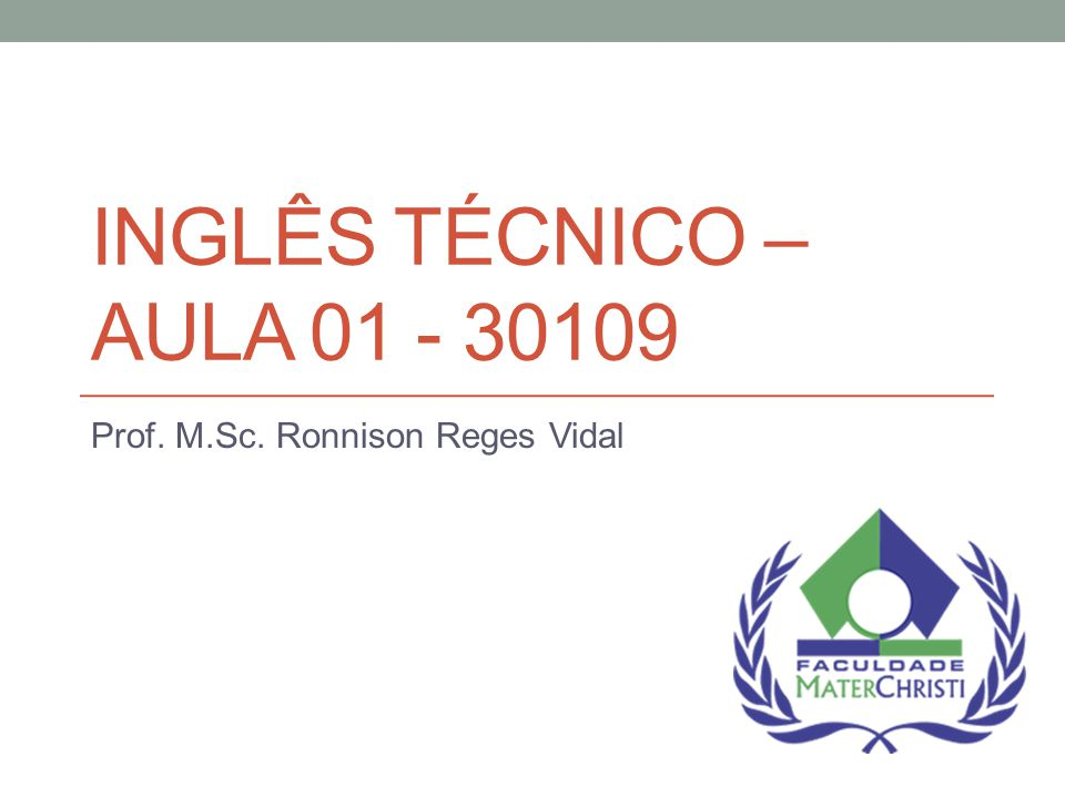 Prof. M.Sc. Ronnison Reges Vidal