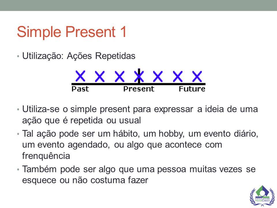 Simple Present 1 Utilização: Ações Repetidas