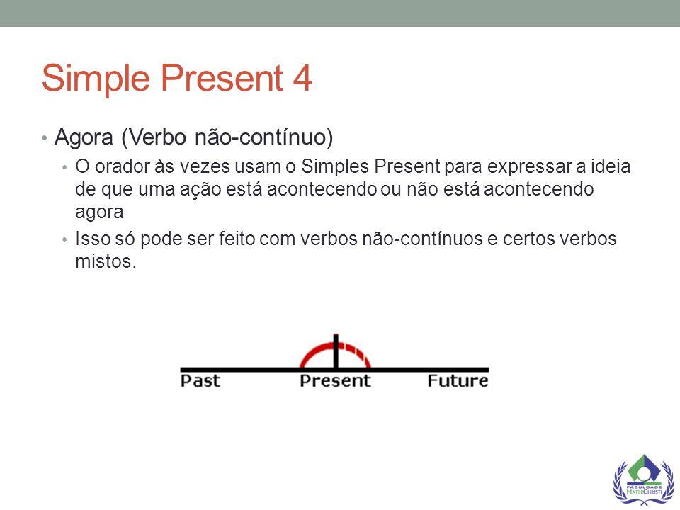 Simple Present 4 Agora (Verbo não-contínuo)