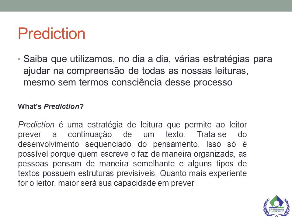 Prediction