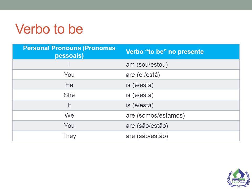 Personal Pronouns (Pronomes pessoais)