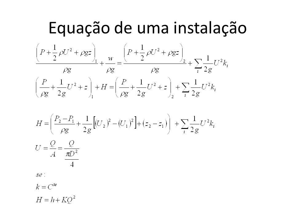 Equação de uma instalação