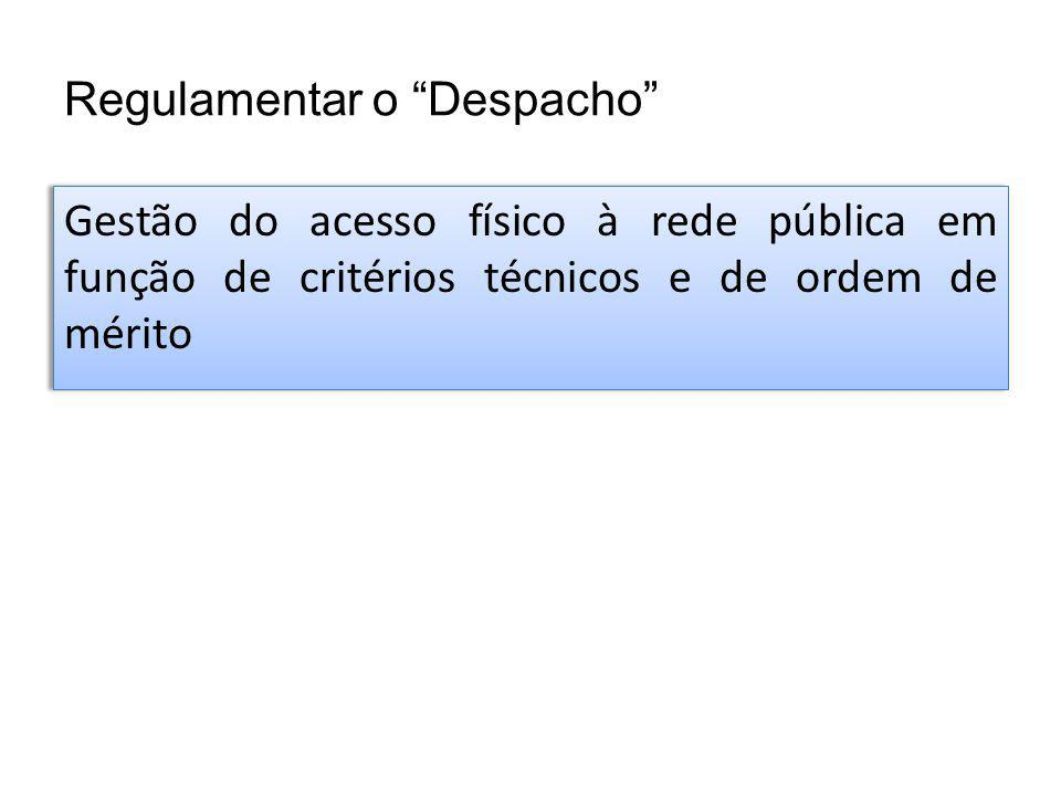 Regulamentar o Despacho