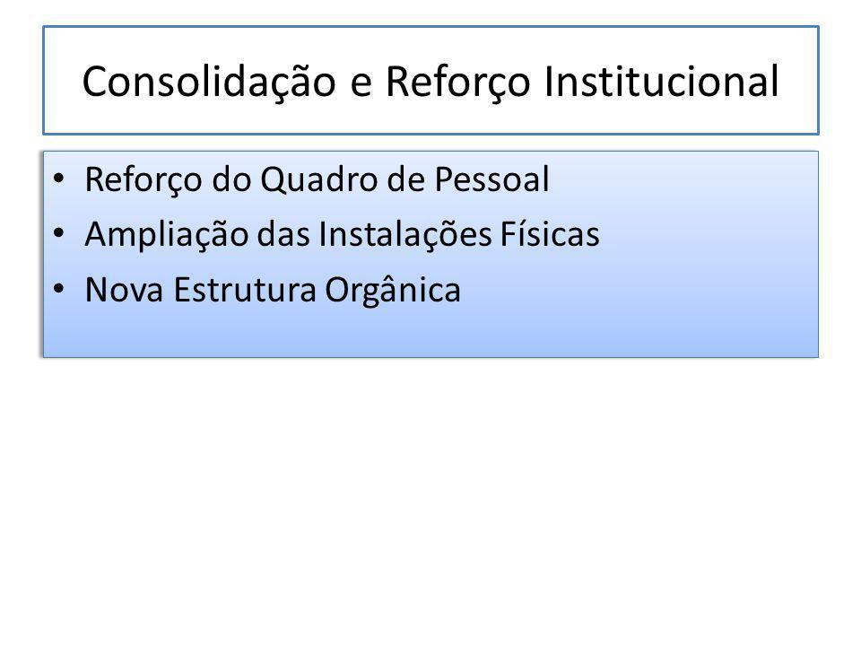 Consolidação e Reforço Institucional