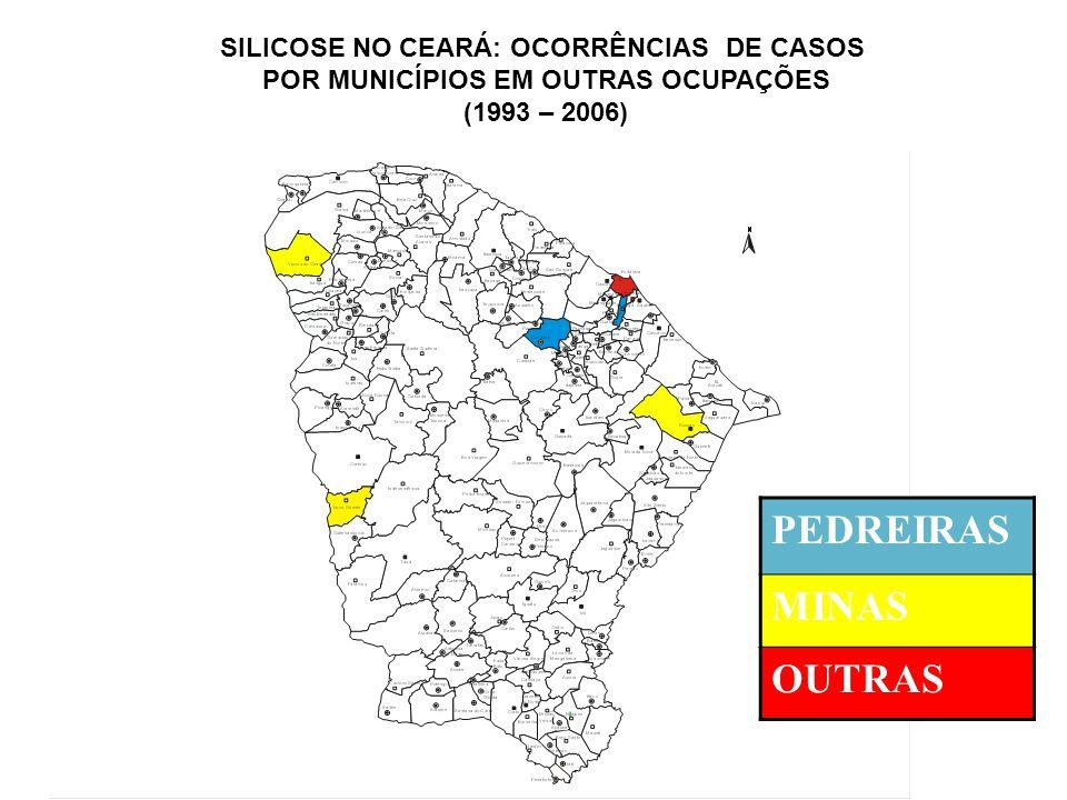 PEDREIRAS MINAS OUTRAS SILICOSE NO CEARÁ: OCORRÊNCIAS DE CASOS