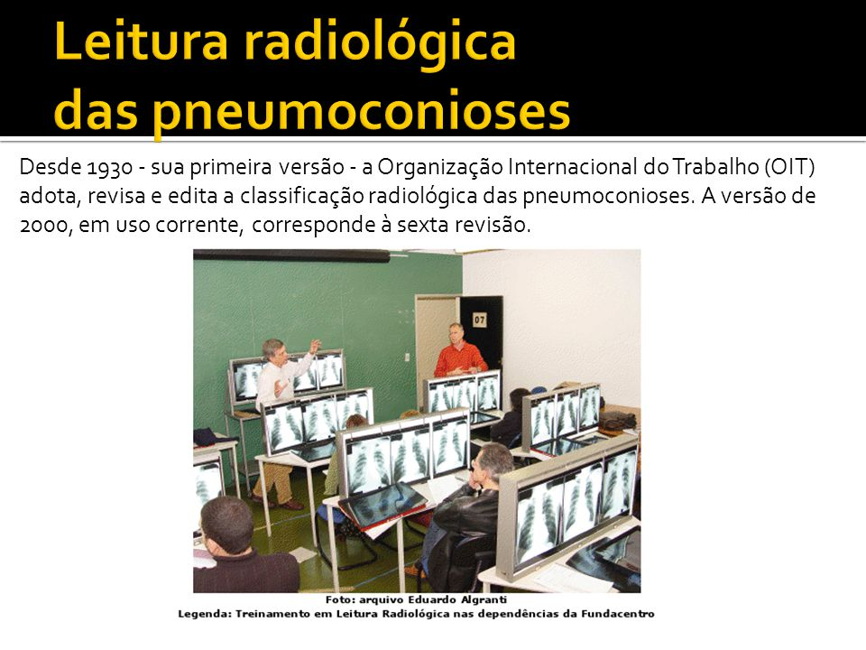 Leitura radiológica das pneumoconioses