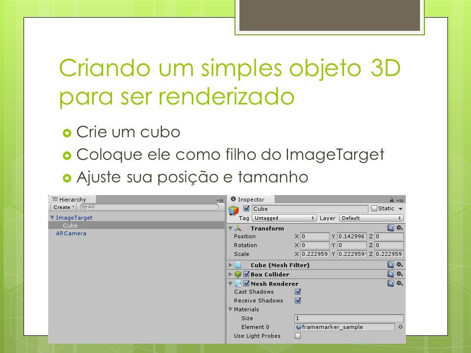 Criando um simples objeto 3D para ser renderizado