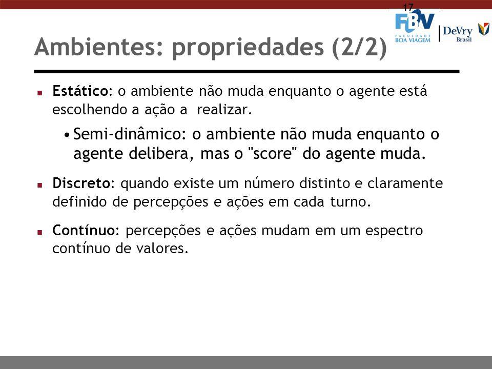 Ambientes: propriedades (2/2)