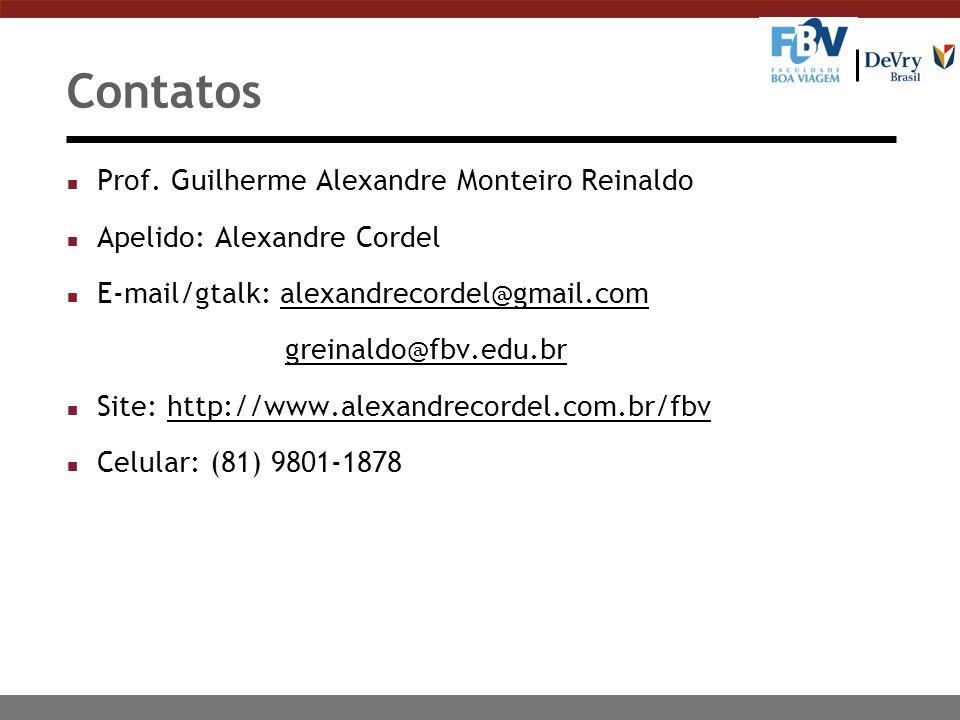 Contatos Prof. Guilherme Alexandre Monteiro Reinaldo