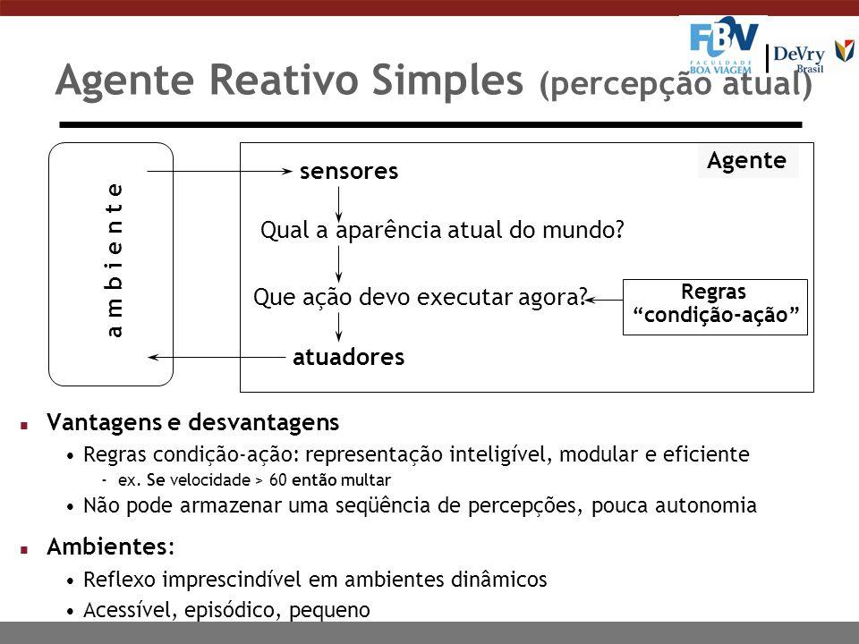 Agente Reativo Simples (percepção atual)