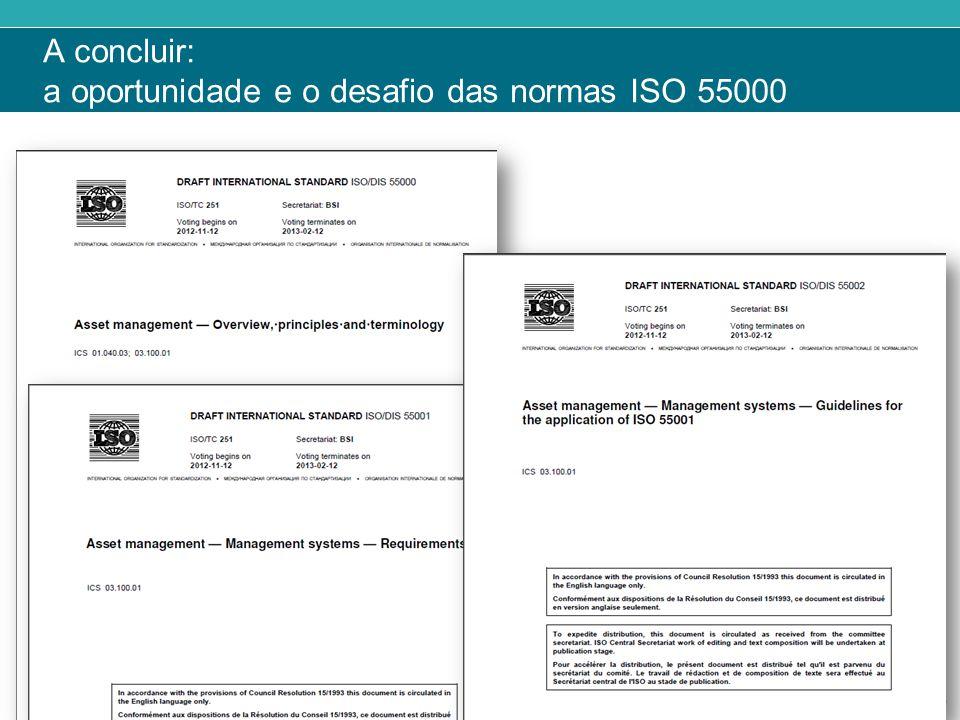 A concluir: a oportunidade e o desafio das normas ISO 55000