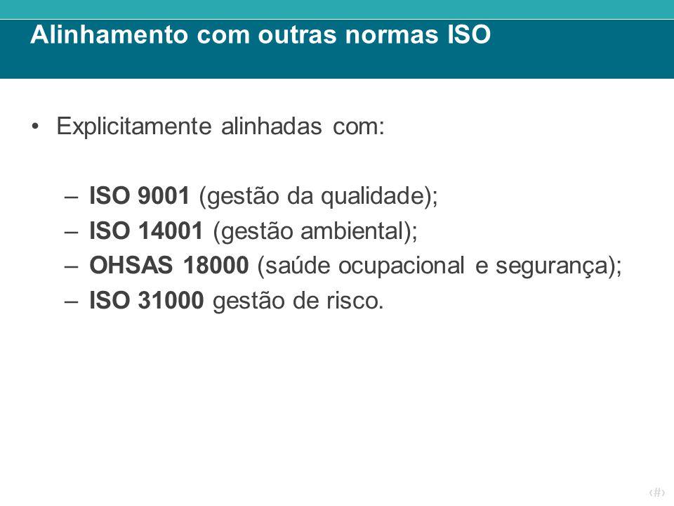 Alinhamento com outras normas ISO