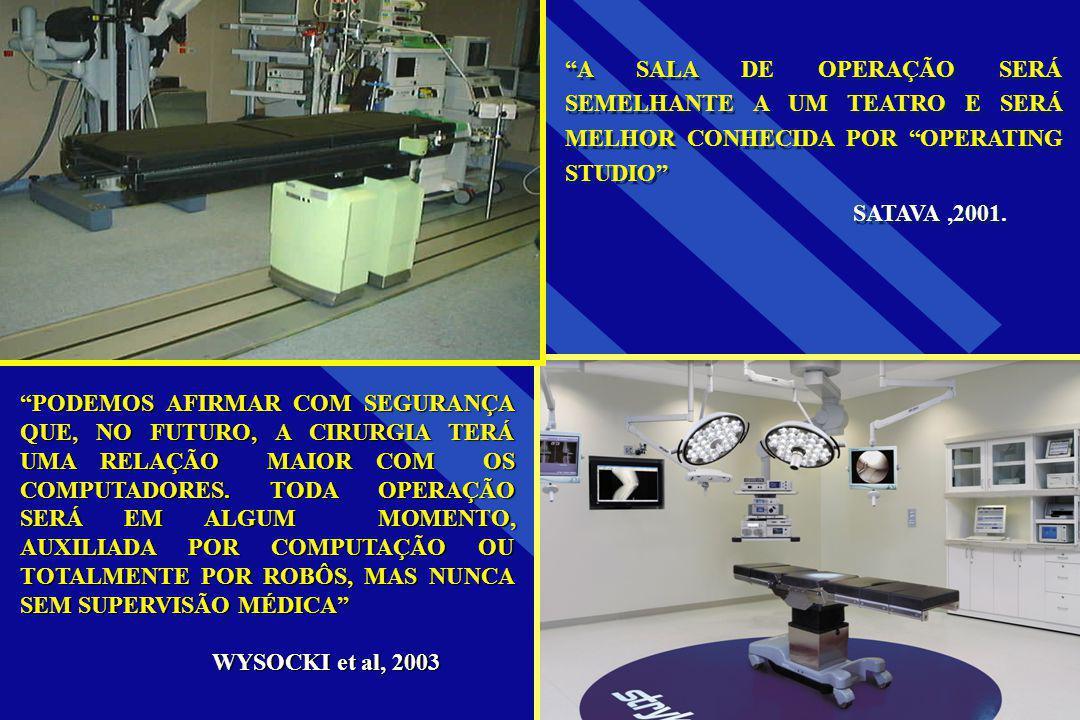 A SALA DE OPERAÇÃO SERÁ SEMELHANTE A UM TEATRO E SERÁ MELHOR CONHECIDA POR OPERATING STUDIO