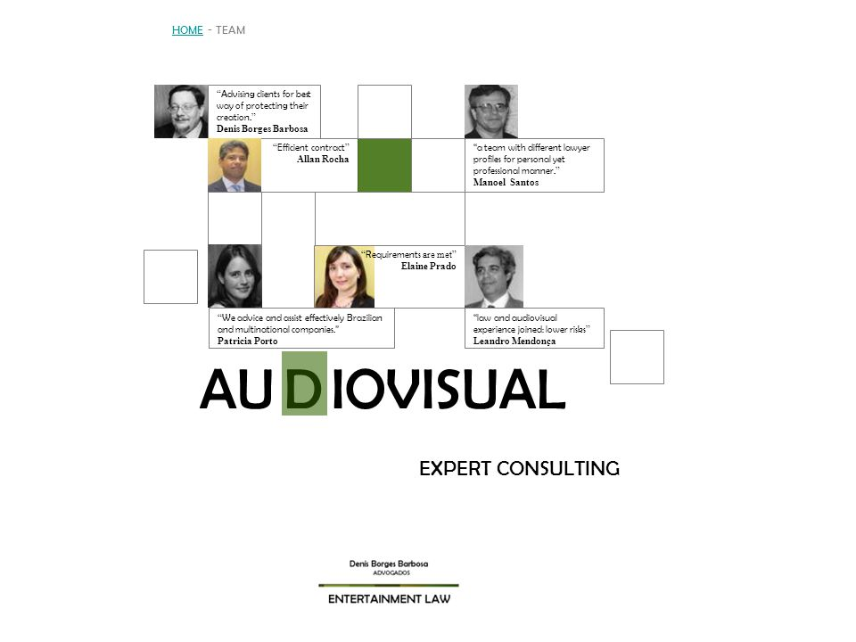 AU IOVISUAL D EXPERT CONSULTING HOME - TEAM