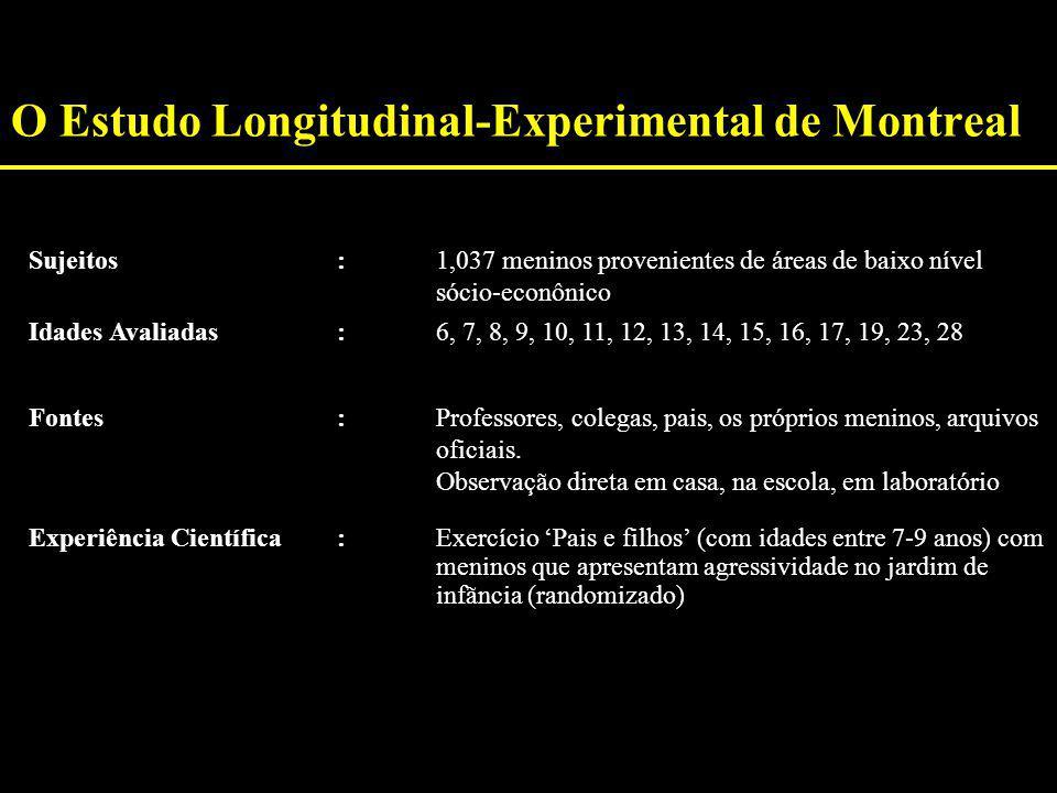 O Estudo Longitudinal-Experimental de Montreal