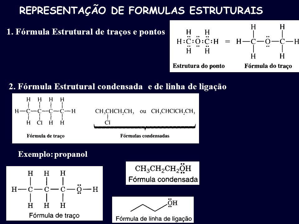 REPRESENTAÇÃO DE FORMULAS ESTRUTURAIS