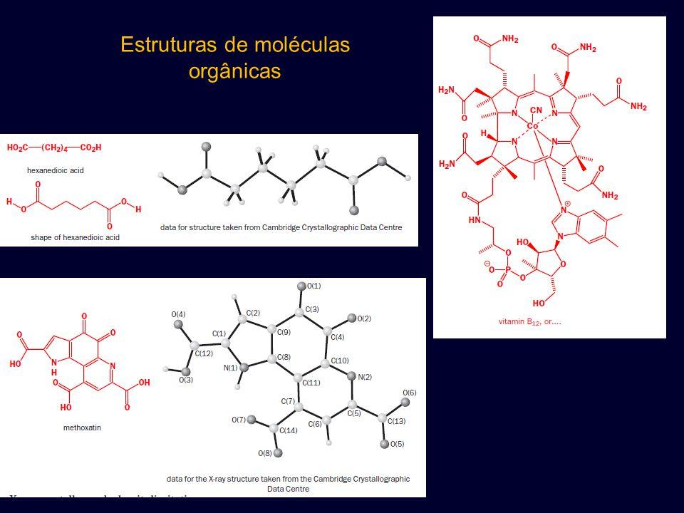Estruturas de moléculas