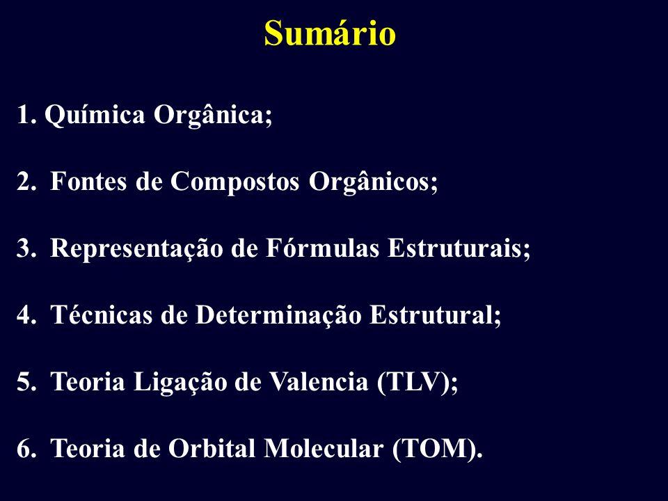 Sumário 1. Química Orgânica; Fontes de Compostos Orgânicos;