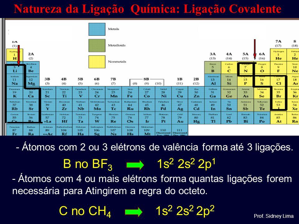 Natureza da Ligação Química: Ligação Covalente