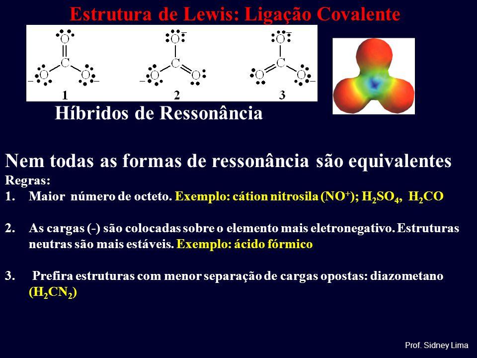 Estrutura de Lewis: Ligação Covalente