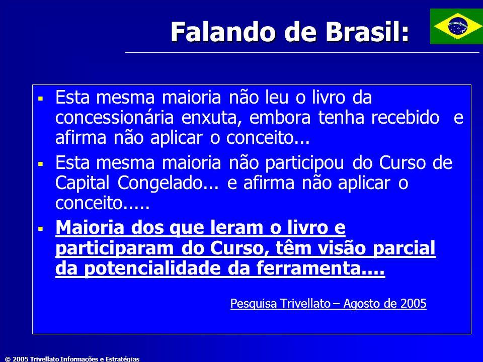 Falando de Brasil: Esta mesma maioria não leu o livro da concessionária enxuta, embora tenha recebido e afirma não aplicar o conceito...