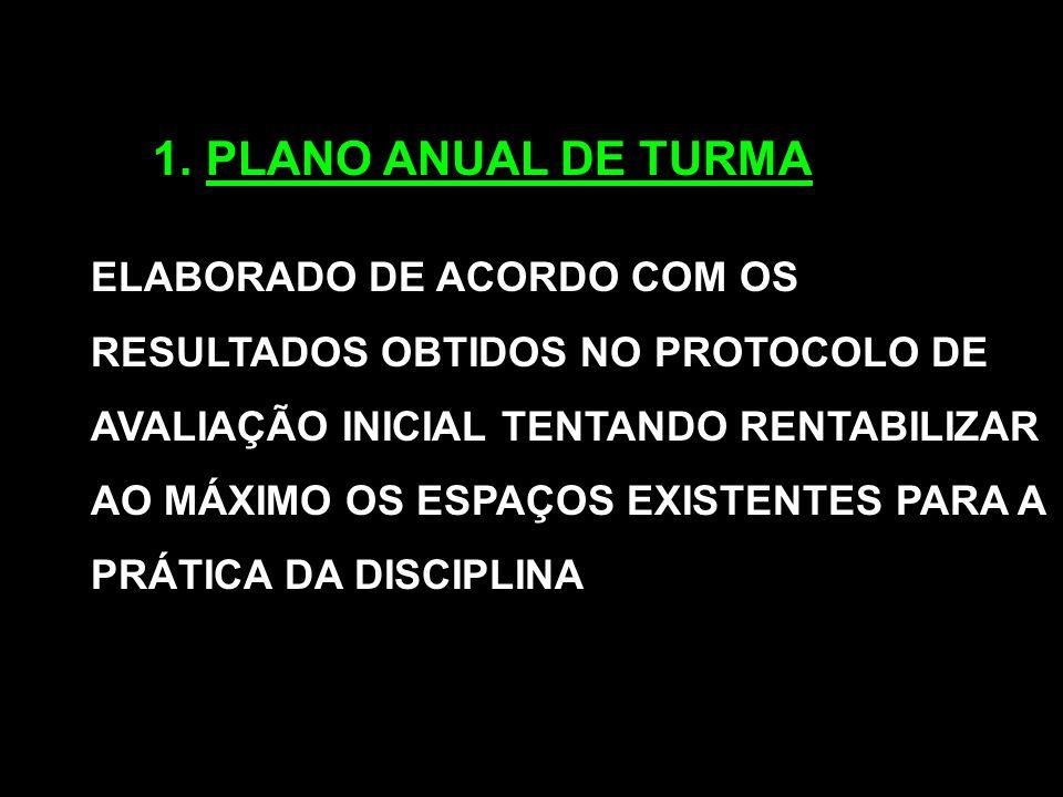 PLANO ANUAL DE TURMA