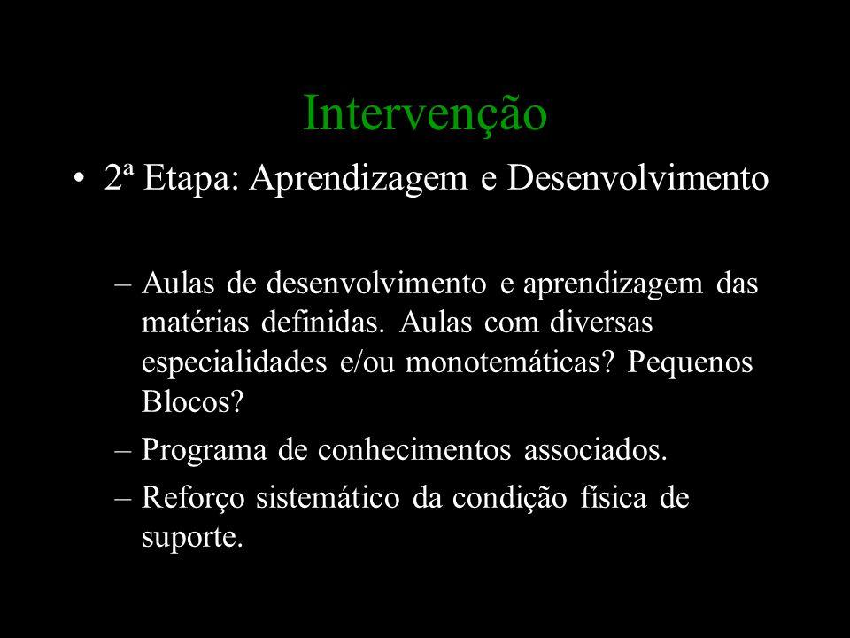 Intervenção 2ª Etapa: Aprendizagem e Desenvolvimento