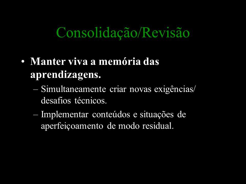 Consolidação/Revisão