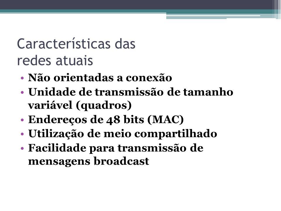 Características das redes atuais