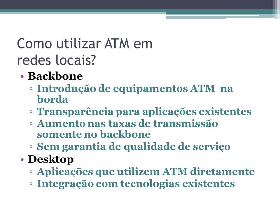 Como utilizar ATM em redes locais