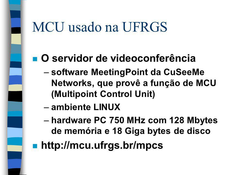 MCU usado na UFRGS O servidor de videoconferência