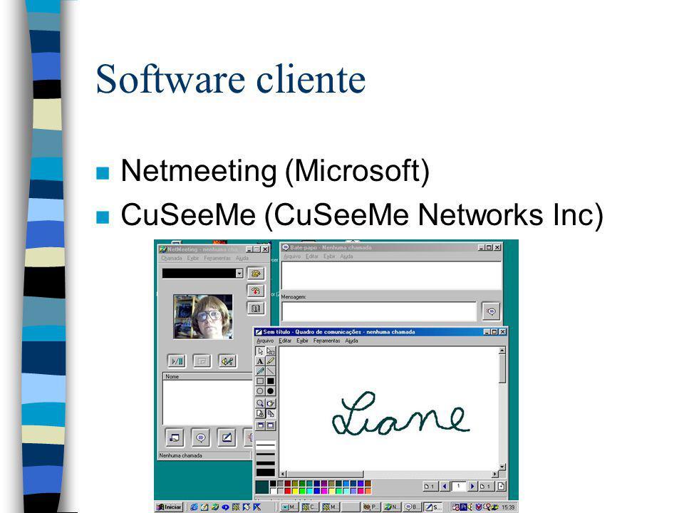 Software cliente Netmeeting (Microsoft) CuSeeMe (CuSeeMe Networks Inc)