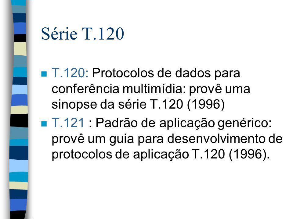 Série T.120 T.120: Protocolos de dados para conferência multimídia: provê uma sinopse da série T.120 (1996)