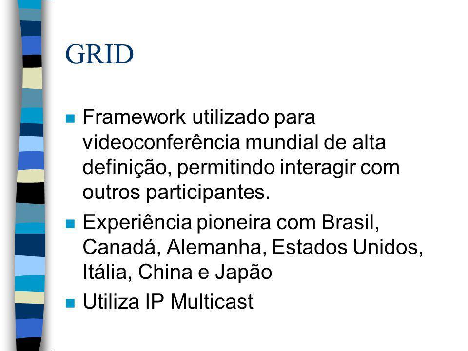 GRID Framework utilizado para videoconferência mundial de alta definição, permitindo interagir com outros participantes.