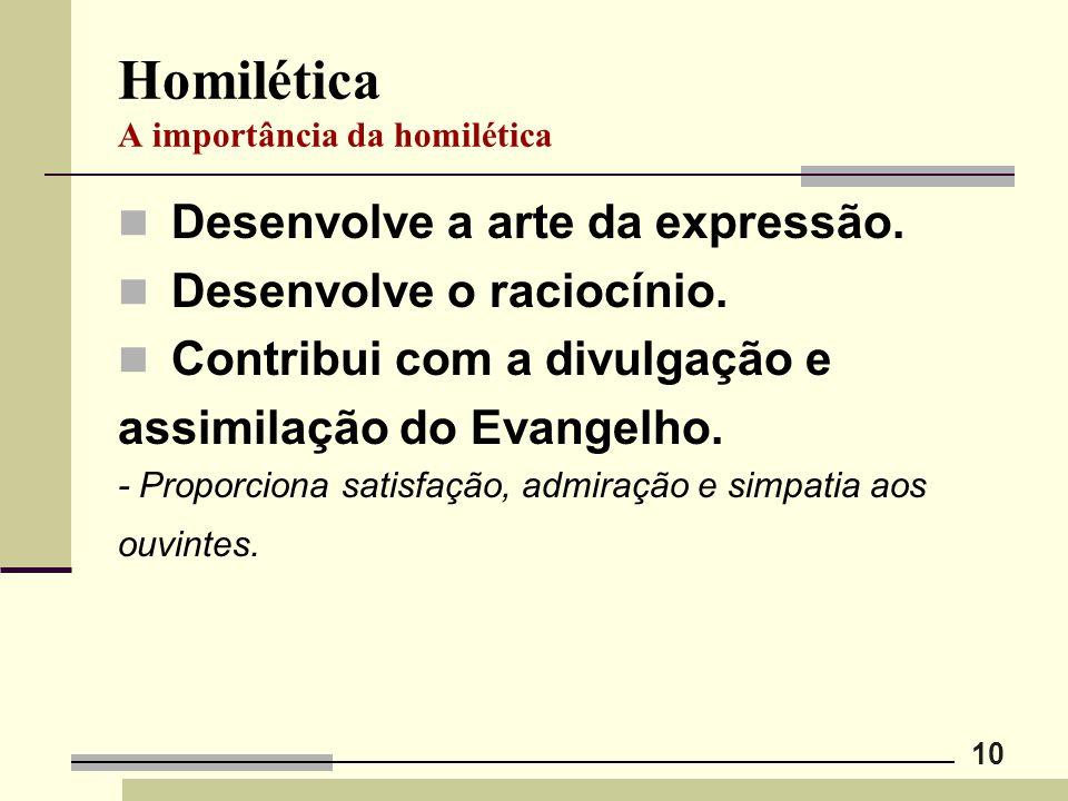 Homilética A importância da homilética