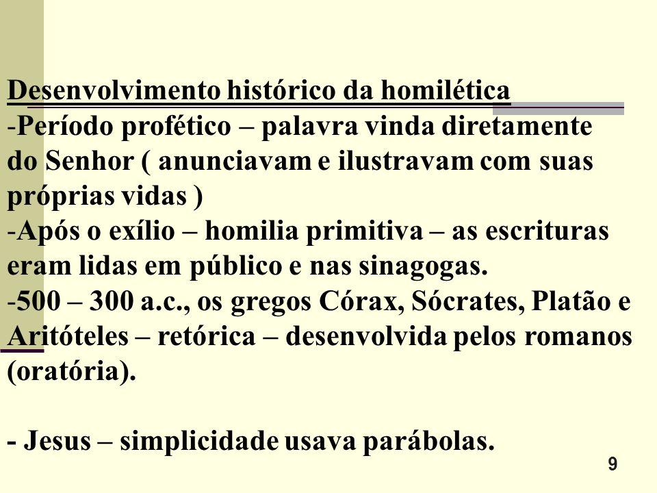 Desenvolvimento histórico da homilética