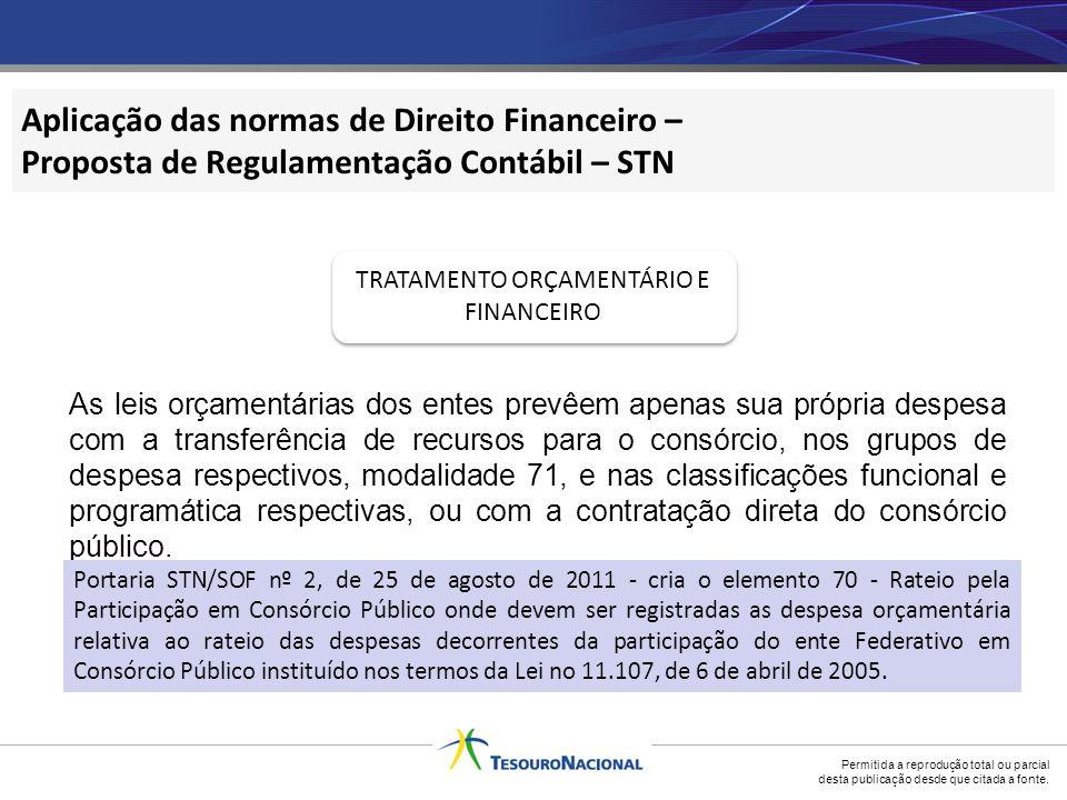 TRATAMENTO ORÇAMENTÁRIO E FINANCEIRO