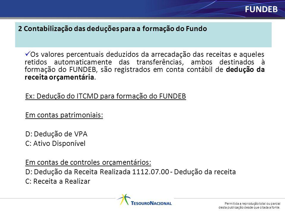 2 Contabilização das deduções para a formação do Fundo
