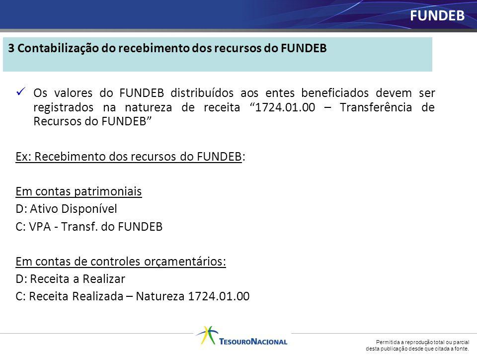 3 Contabilização do recebimento dos recursos do FUNDEB