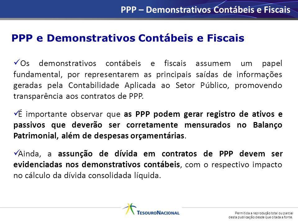PPP – Demonstrativos Contábeis e Fiscais