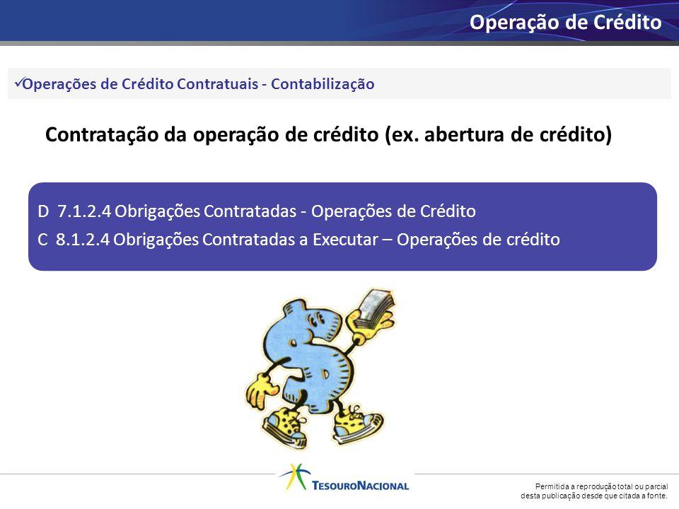 Contratação da operação de crédito (ex. abertura de crédito)