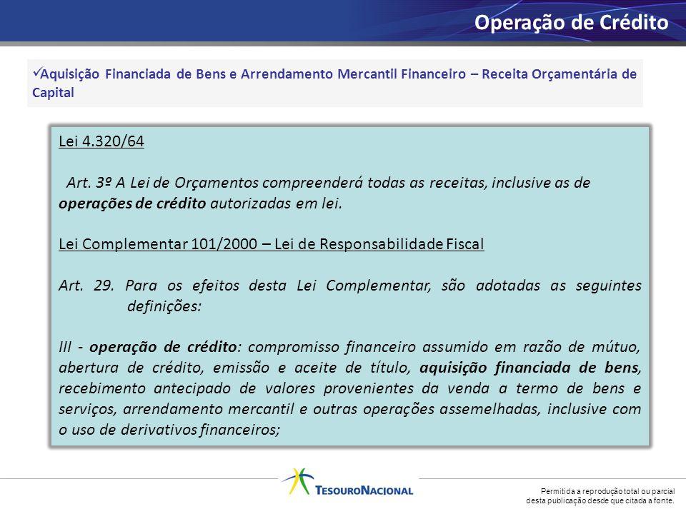 Operação de Crédito Lei 4.320/64