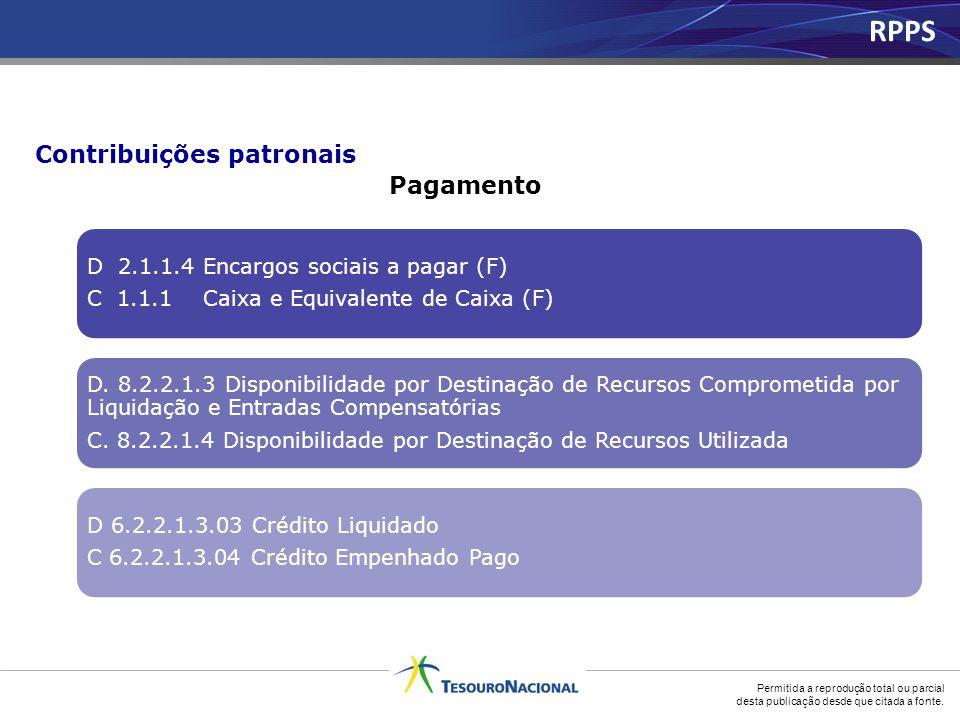 RPPS Contribuições patronais Pagamento