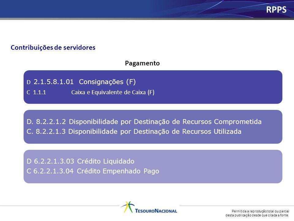 RPPS Contribuições de servidores Pagamento