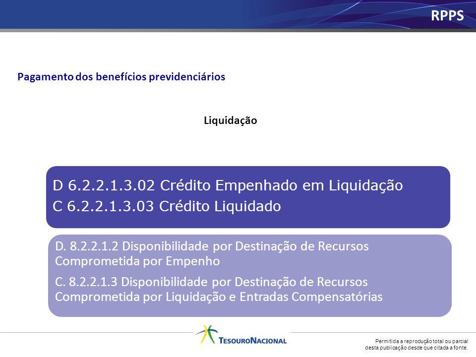 RPPS D 6.2.2.1.3.02 Crédito Empenhado em Liquidação