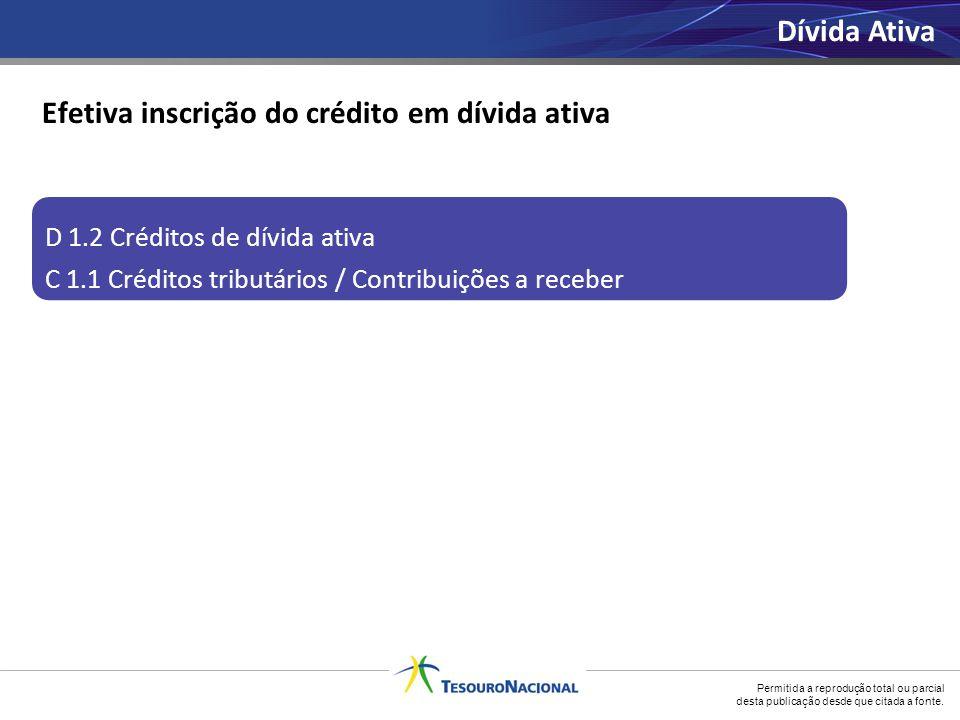 Efetiva inscrição do crédito em dívida ativa