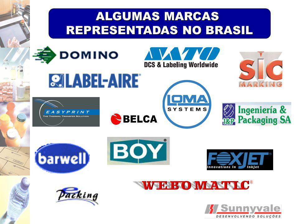 REPRESENTADAS NO BRASIL