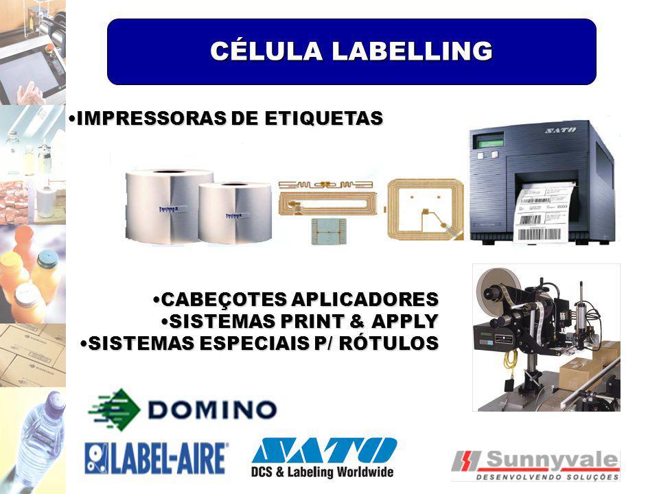 CÉLULA LABELLING IMPRESSORAS DE ETIQUETAS CABEÇOTES APLICADORES