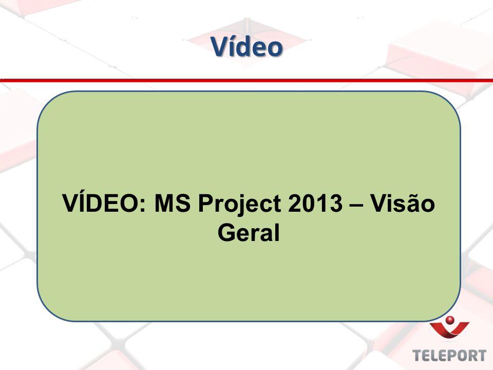 VÍDEO: MS Project 2013 – Visão Geral